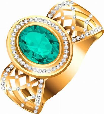 Jewelry Ring Clipart Diamond Golden Diamonds Transparent