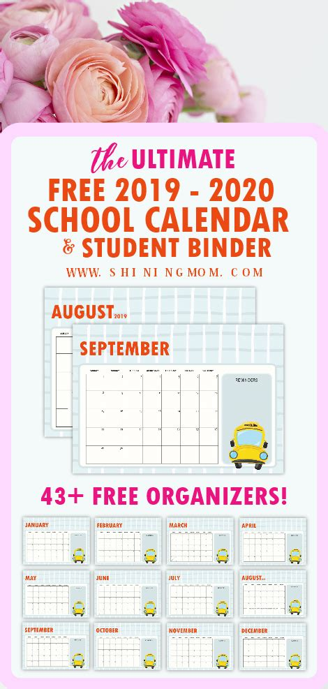 school planner amazing organizers students monthly