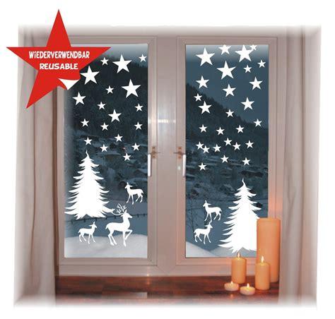 Edle Fensterdeko Weihnachten by Fensterbild Weihnachten Wintersterne Wiederverwendbar