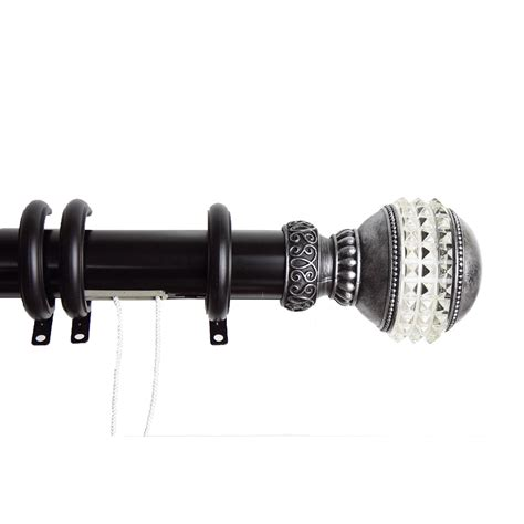 """Gemstone Decorative Traverse Rod W Rings 48"""" 84"""" Black. Decor Accents. Home Decor Stencils. Coastal Chic Decor. Extending Dining Room Table. Chandelier For Little Girl Room. Decorative Floor Easels. Sonos Multi-room Music System. Rooms For Rent Dallas"""