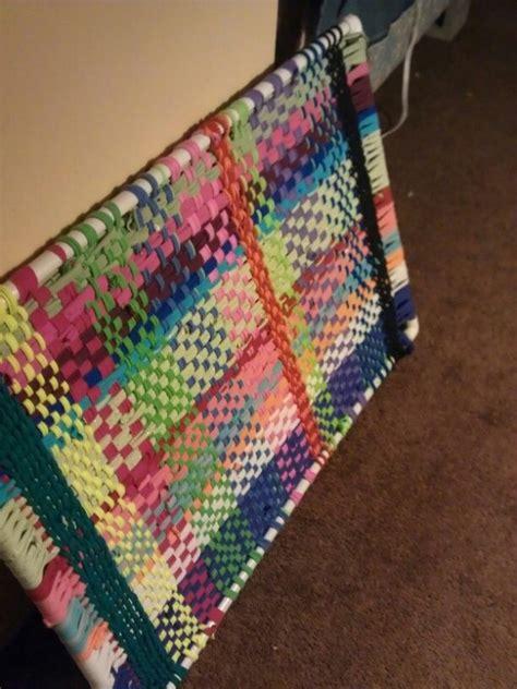 rag rug diy diy loom rag rug made with pvc