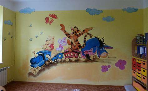 kinderzimmer wandgestaltung vorlagen wandmalerei f 252 r kinder wandgem 228 lde verschiedene motive auf