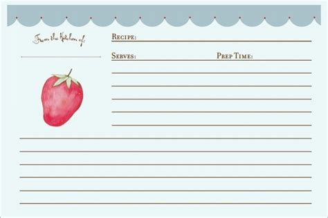 recipe card templates  ms word