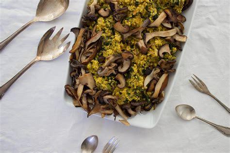 Vegane One Pot Hirse Mit Spinat Und Pilze