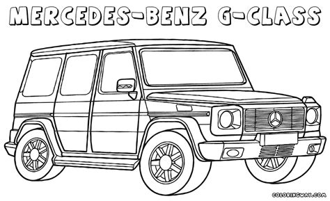 Mercedes Benz Coloring Pages
