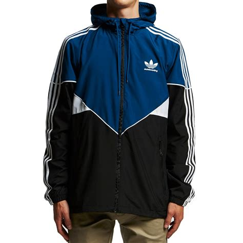 Original Blue Black adidas premiere windbreaker jacket black blue white