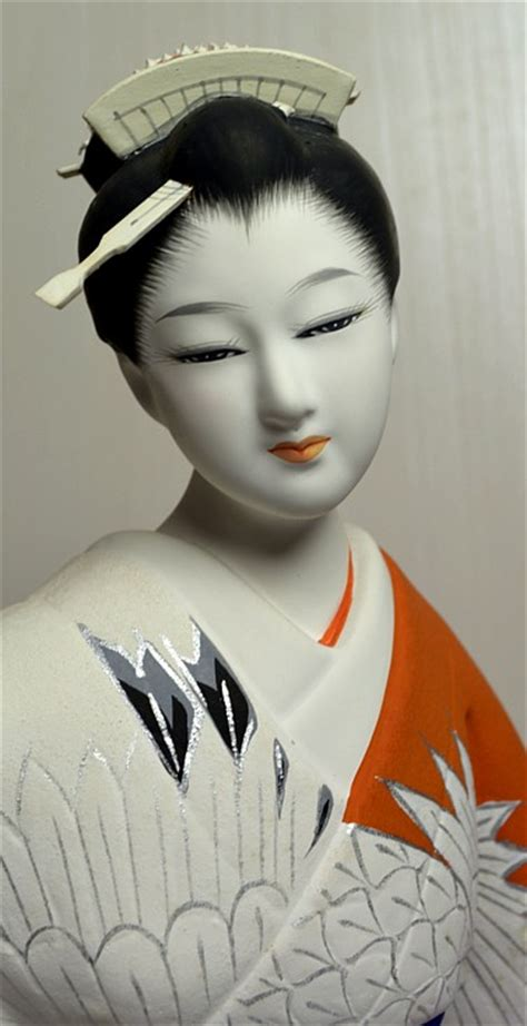 Japanese Young Woman Dancing With Folding Fan