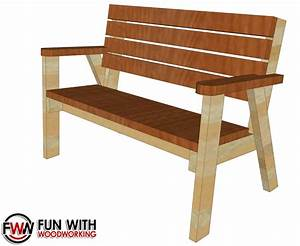 Full plans for the Park Bench with a reclined seat are now
