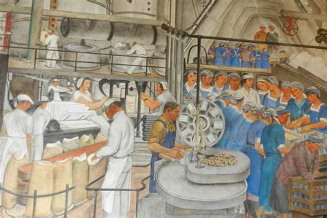 Coit Tower Murals Controversy by Mike Alewitz The City At The Crossroads Of History Mural