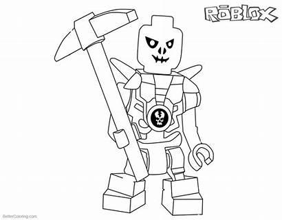 Roblox Coloring Pages Ninjago Lego Printable Skulkin