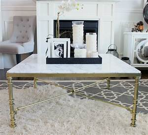 diy faux marble coffee table a purdy little house With real marble top coffee table