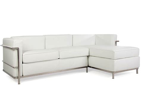 lc2 canap 233 d angle le corbusier blanc