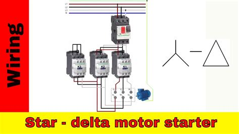 How Wire Star Delta Motor Starter Power Control