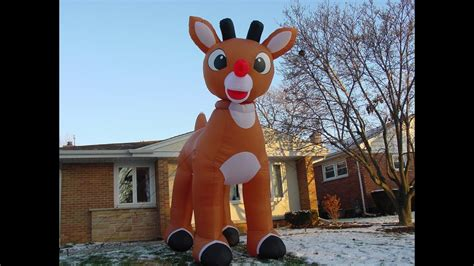 foot inflatable rudolph youtube
