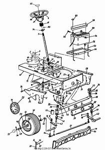 Mtd 14as84ah062  1997  Parts Diagram For Steering And