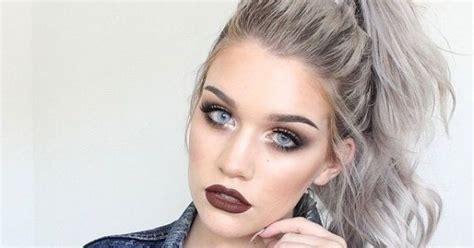 Couleur Gris Cheveux Maquillage Pour Femme Cheveux Gris