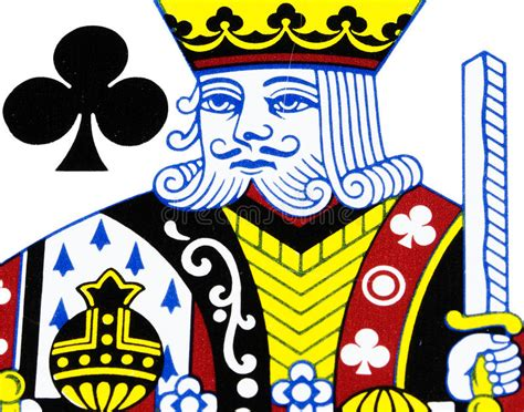Kings card club is adding $2k daily to the current 3 card poker progressive jackpot at 6 am! King of club playing card stock image. Image of deck - 41874191
