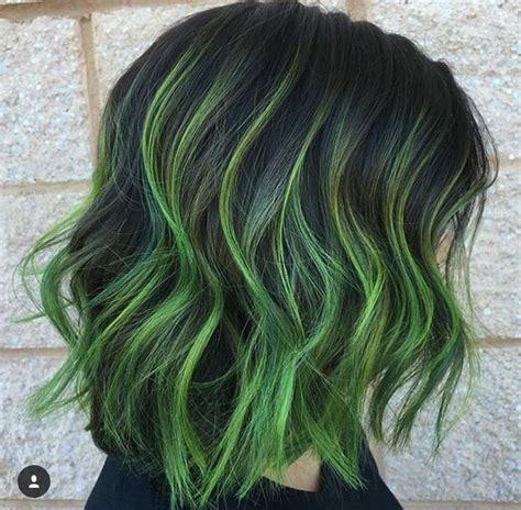 25 Best Green Hair Streaks Ideas On Pinterest