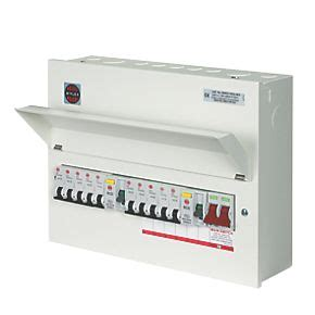 wylex 16 module 10 way populated high integrity dual rcd consumer unit domestic consumer units