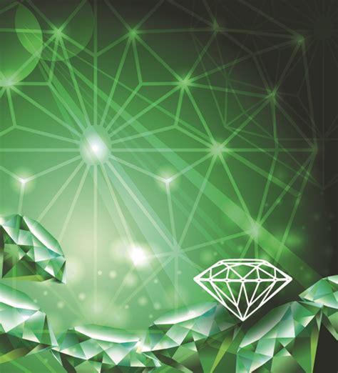 green diamond backgrounds vector  vector background