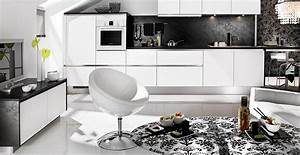 black and white kitchen design for your best home With kitchen design black and white
