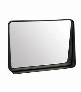 miroir rectangulaire noir en zinc et verre With miroir rectangulaire noir