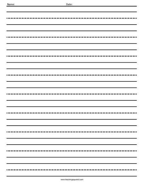 lined paper teaching squared lined writing paper