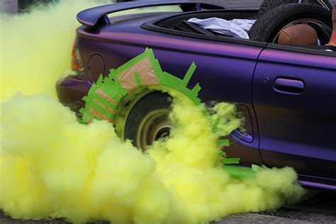 colored tire smoke photo americanmuscles