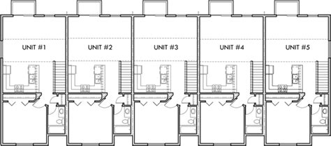 plex row house plans reversed living multi family vacation