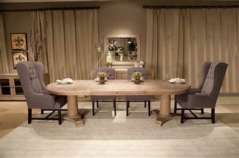 belmont oval extension dining table   zin home