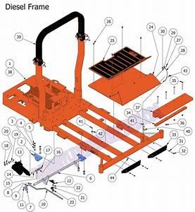 Bad Boy Mower Part  2015 Diesel Frame Assembly