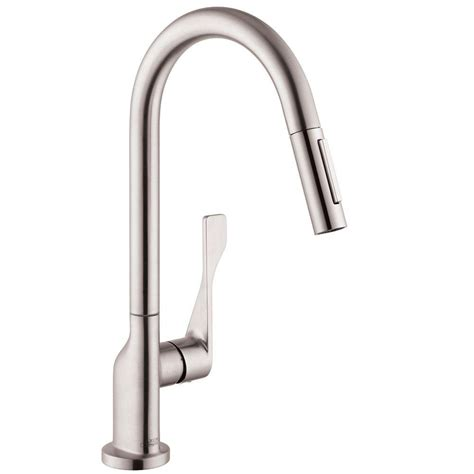 hansgrohe kitchen faucet hansgrohe axor citterio single handle pull out sprayer
