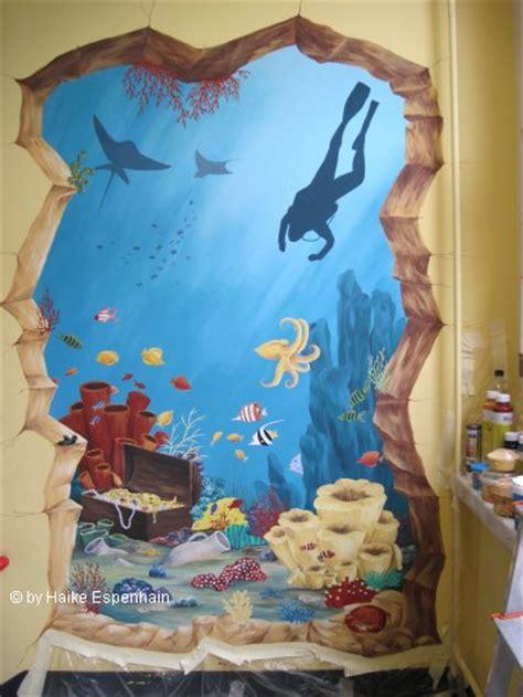 wandgestaltung kinderzimmer unterwasserwelt wandbilder raumgestaltung malerei kunst