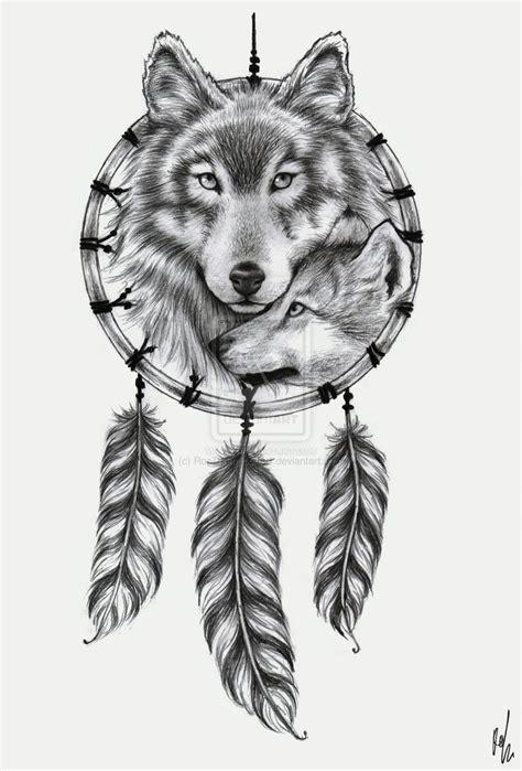 Tatouage Attrape Reve Loup