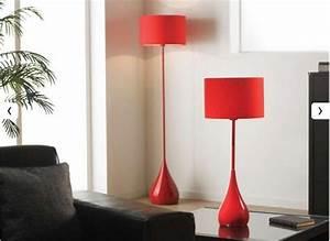 Lampadaire Salon Design : bonnes affaires d co pourquoi pas un lampadaire en m tal rouge pas cher pour apporter un plus ~ Preciouscoupons.com Idées de Décoration