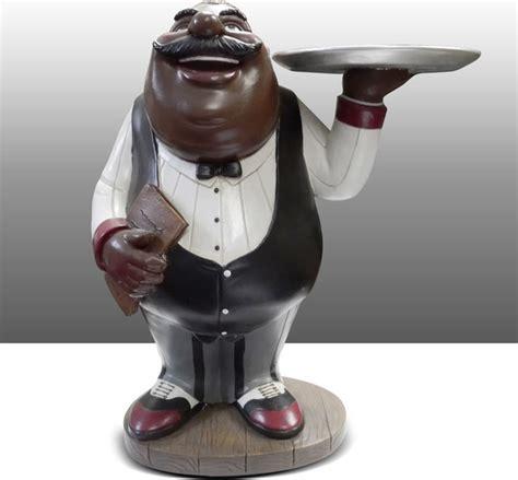 Black Chef Kitchen Decor by Black Chef Kitchen Statue Holding Plate Table Decor