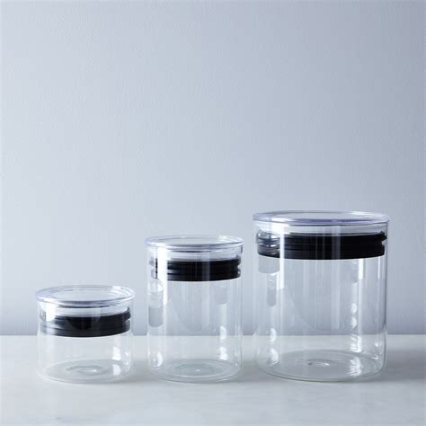 glass kitchen canisters airtight glass airtight food storage containers on food52