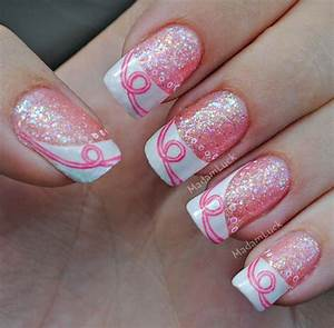 Nail art on Pinterest   Breast Cancer Awareness Nail Art Designs and Cancer Awareness