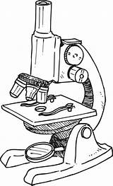 Microscope Clipart Parts Compound Drawing Labeled Simple Clip Electron Microscopes Cliparts Pencil Idea Microscopic Cells sketch template