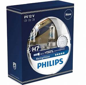 Philips Racing Vision H7 : 2 ampoule h7 12v 55w philips racing vision 150 3800k ~ Jslefanu.com Haus und Dekorationen