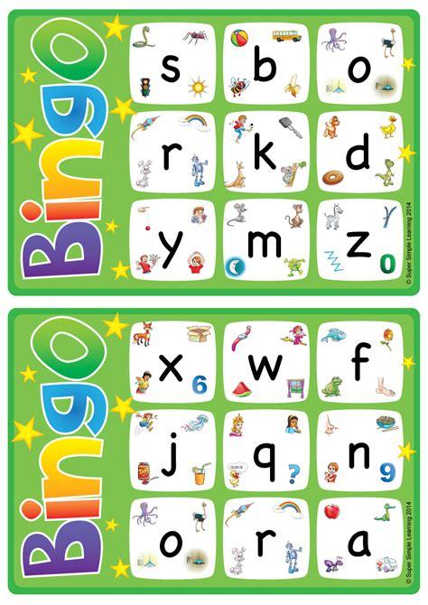 alphabetvocabulary bingo game lowercase letters   super simple