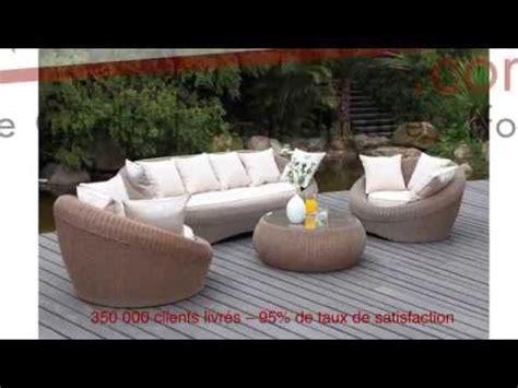 Salon de jardin WHITEHEAVEN en ru00e9sine tressu00e9e - YouTube