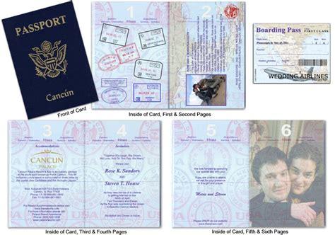 Passport Wedding Invitations Template Free Download