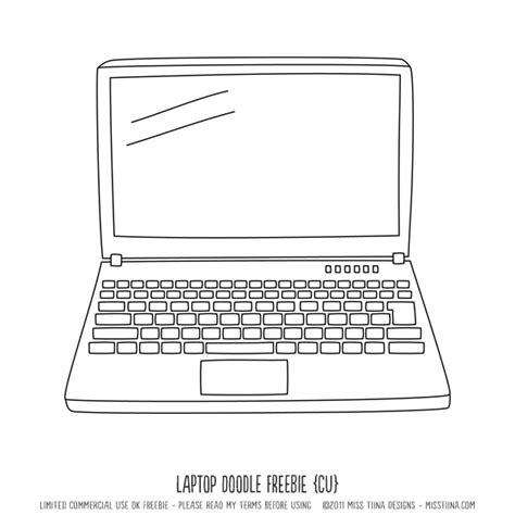 laptop clipart printable pencil   color laptop