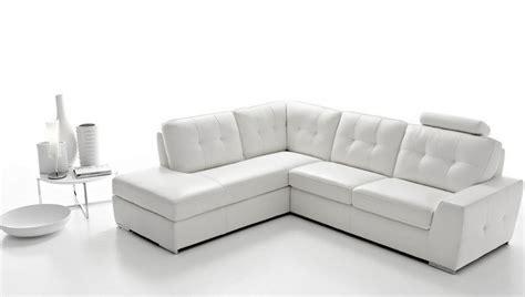 canapé faux cuir canap angle en simili cuir vachette blanc