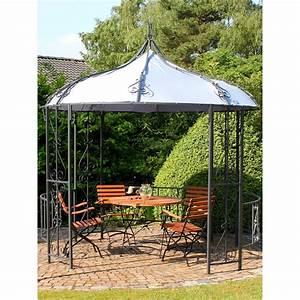 leco metallpavillon stahlpavillon online baumarkt xxl With französischer balkon mit sonnenschirme xxl garten