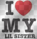 i love my little sister Graphics, Cliparts, Stamps ...