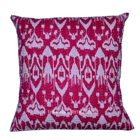 24 quot x24 quot pink oversized decorative pink embroidered ikat