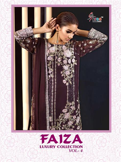 Shree Fabs Faiza Luxury Vol 4 Wholesale Pakisatani Suits