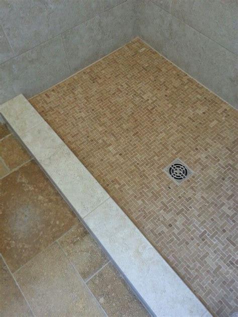 schluter shower floor  custom curb cap   bullnose